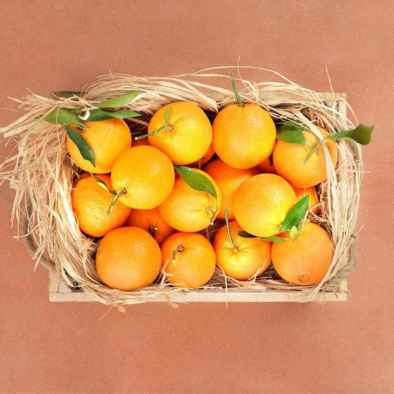 Fruit box 8kg of fresh Greek oranges from Argolida