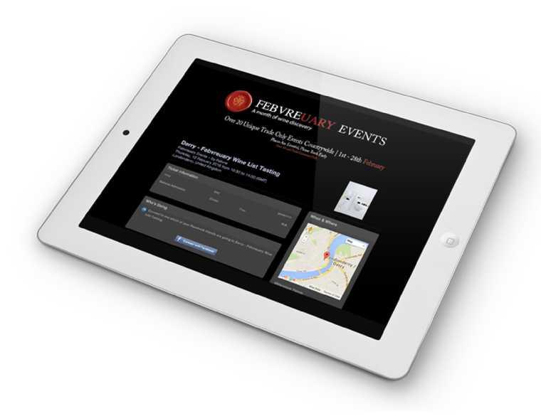 febvre website on tablet