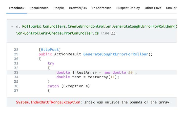 .NET Error details & metadata