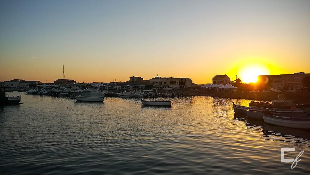 Tramonto porto Marzamemi