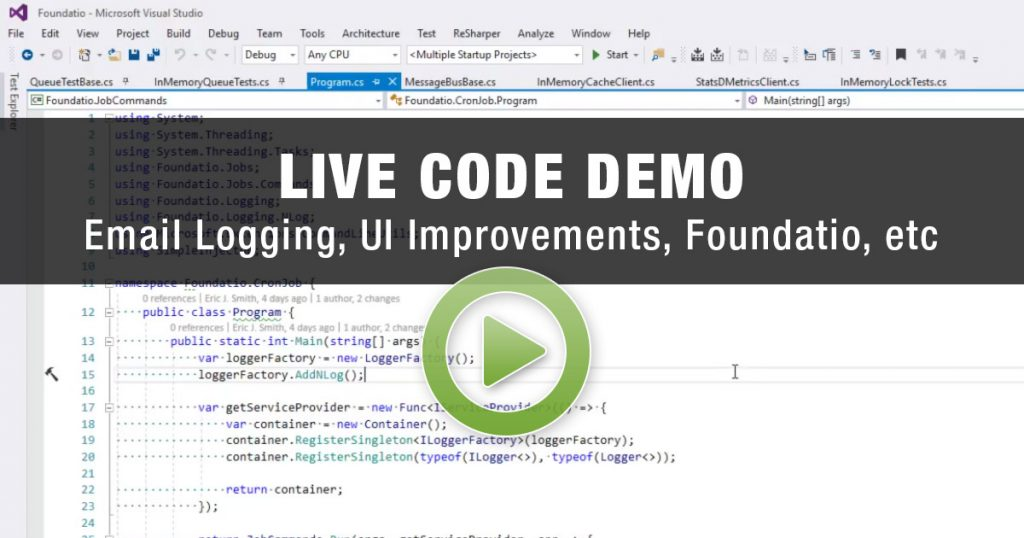 Exceptionless live code demo 2/20/17