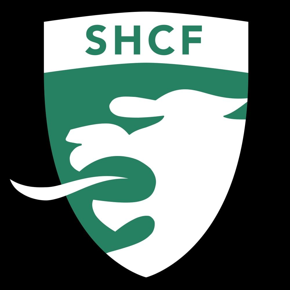 Logo alternatif du SHCF imprimé sur un mur