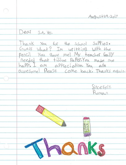 SA YES Letter from Student