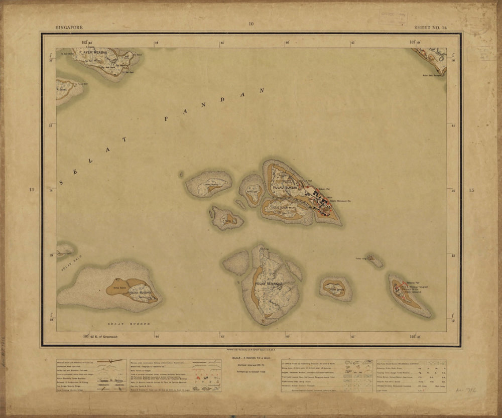 A map of several islands.