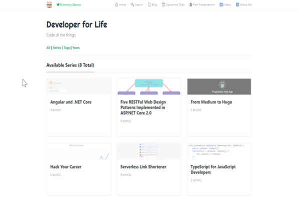 Screenshot of Developer for Life