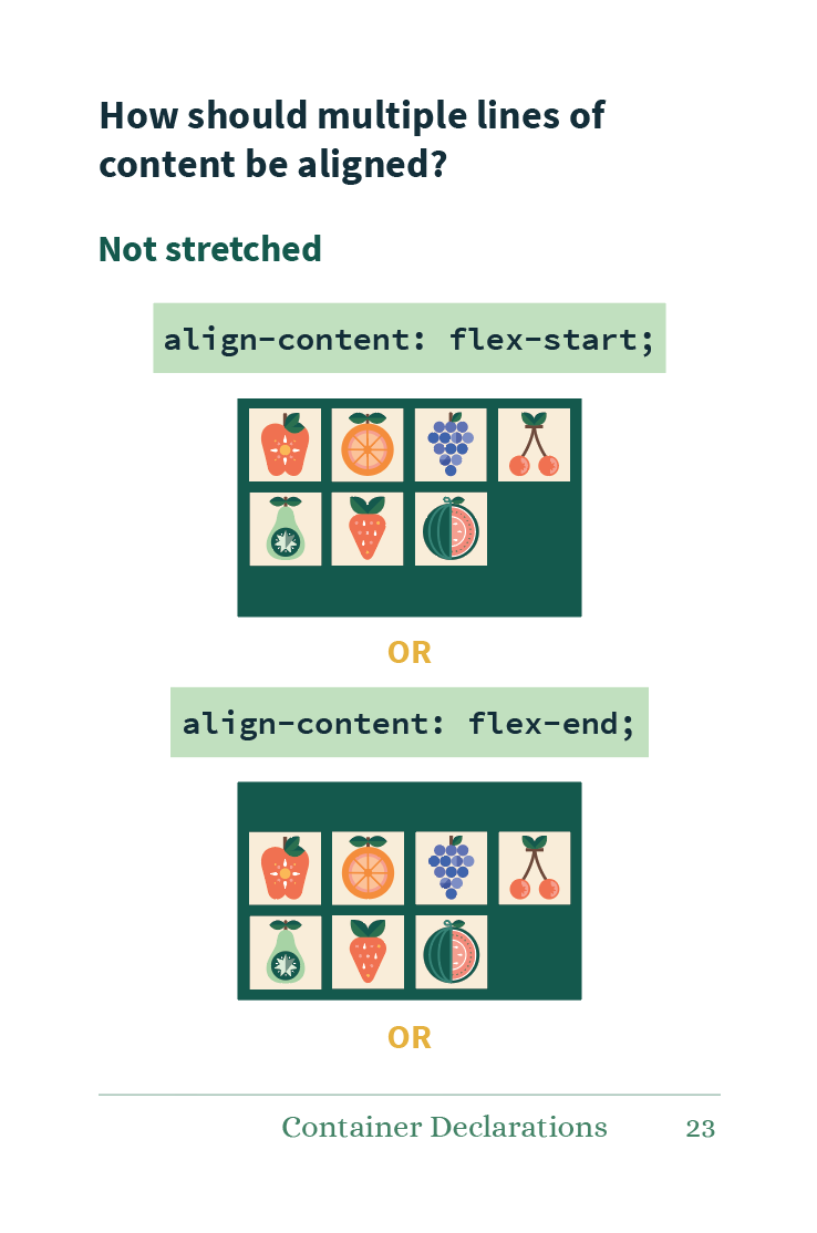 Preview of align-content values