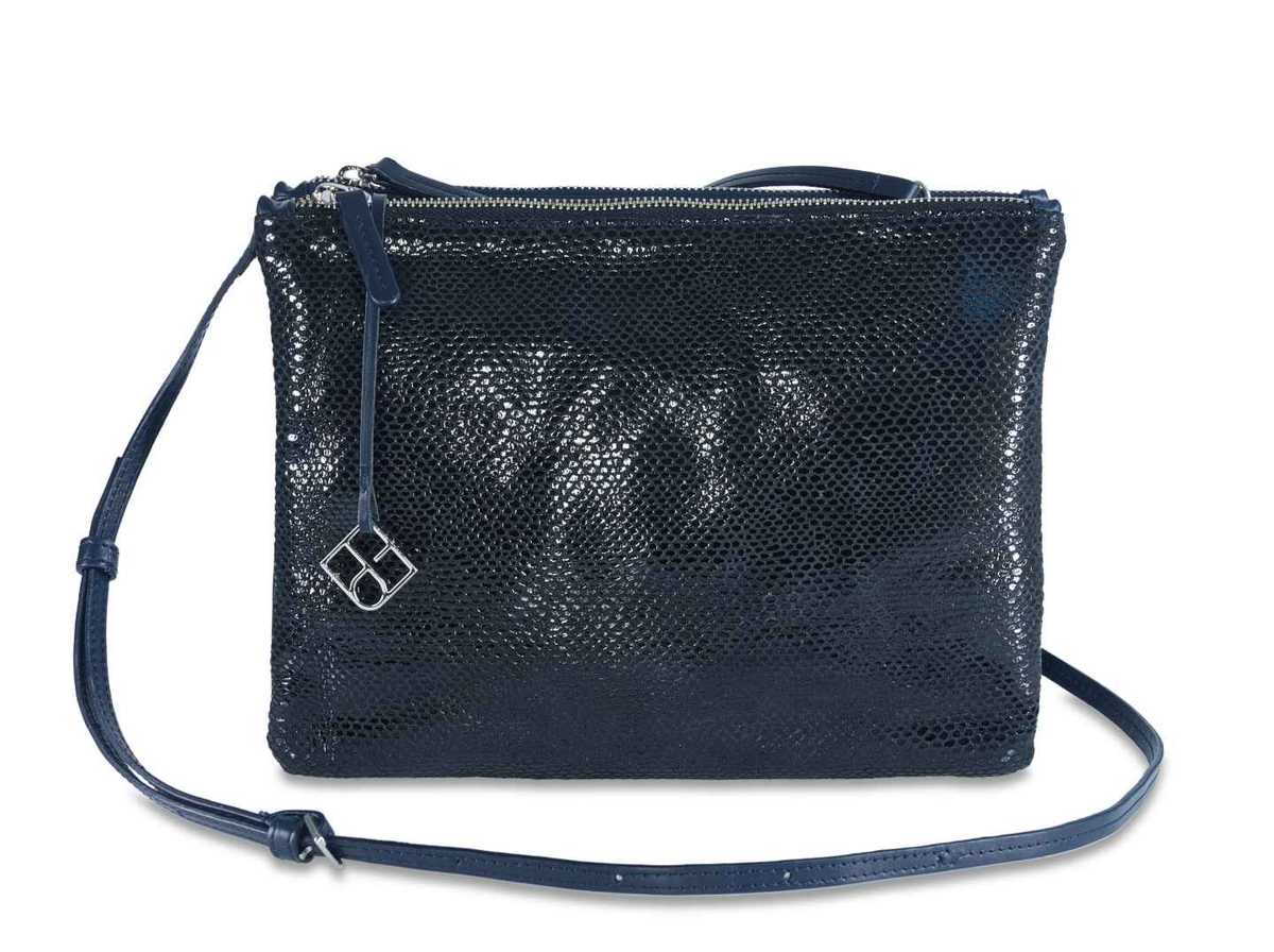 Peacock Pouch Double – snake night blue