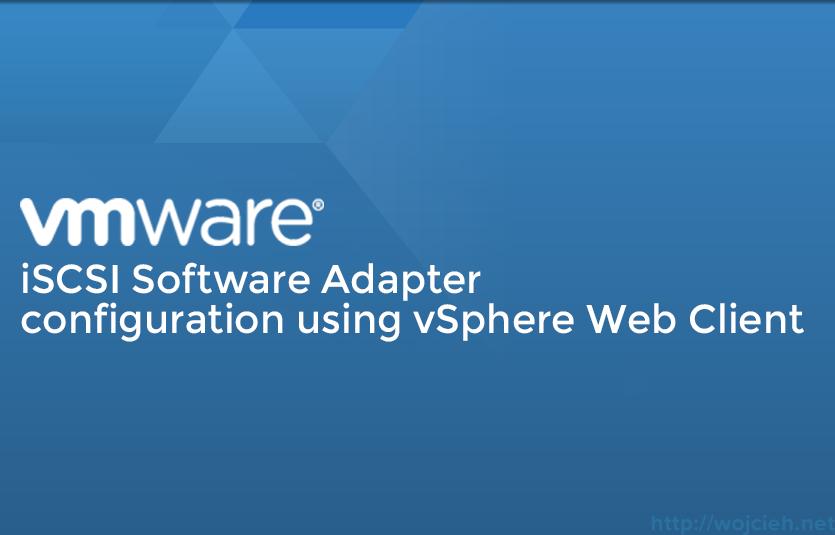 VMware iSCSI configuration Logo