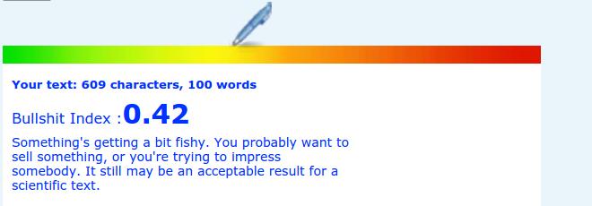 Salesforce job ad's bullshit rank reading from Blablameter.com
