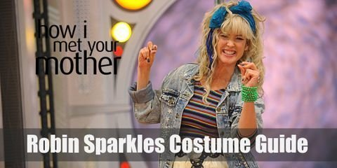 """A Robin Sparkles costume consists of a lot of frills, bows, and big sparkles""."