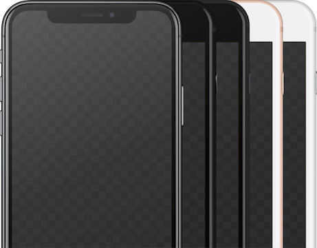 Picture of series of iPhones