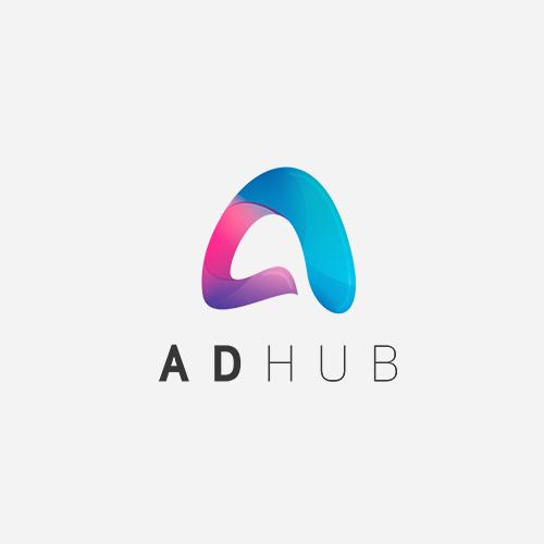 Logo til Adhub