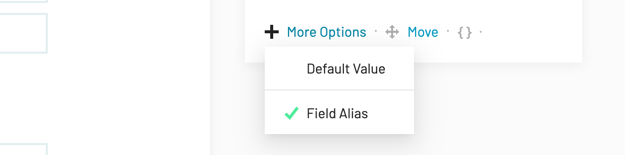 Email field alias