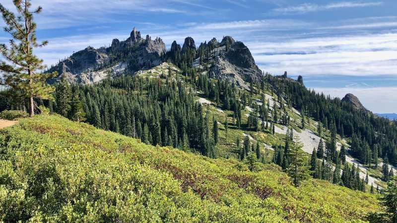 A closer view of Castle Crags
