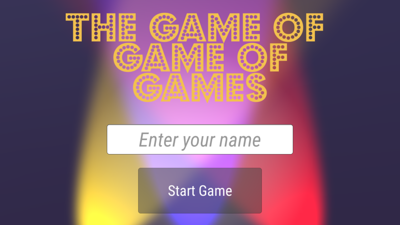The Game of Game of Games Logo