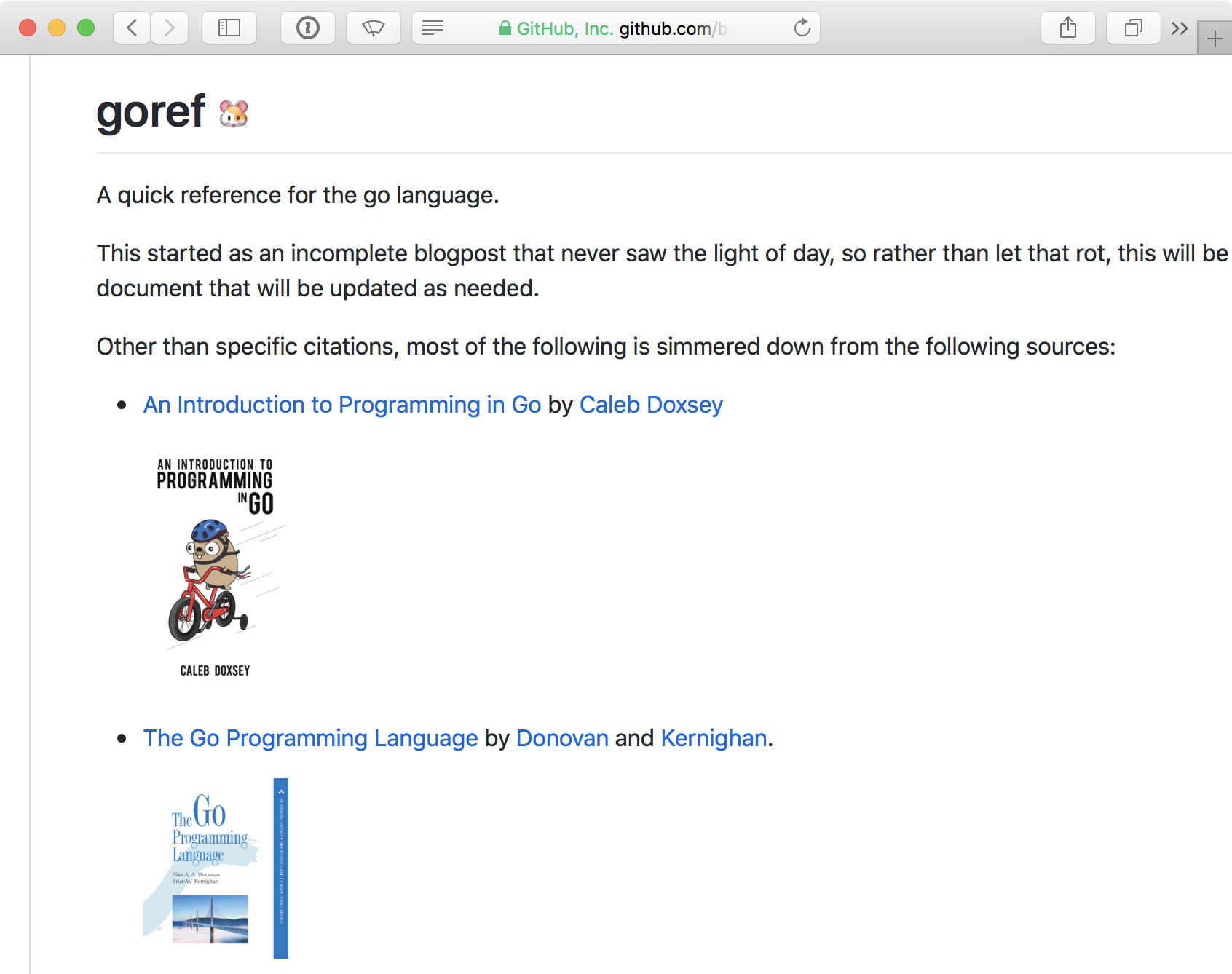 Screenshot of goref