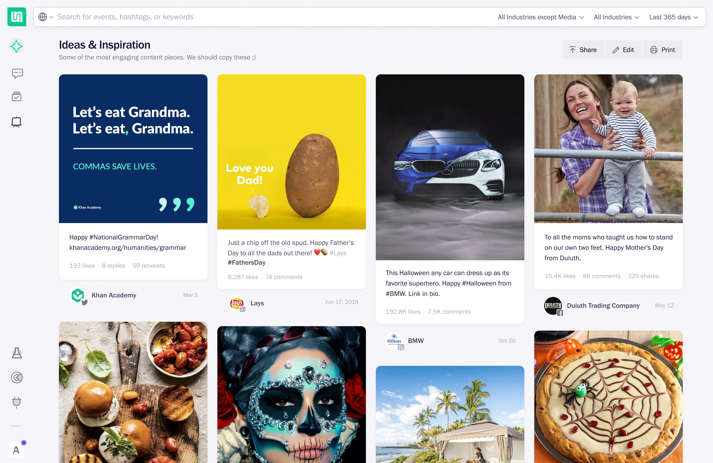 Discover board page