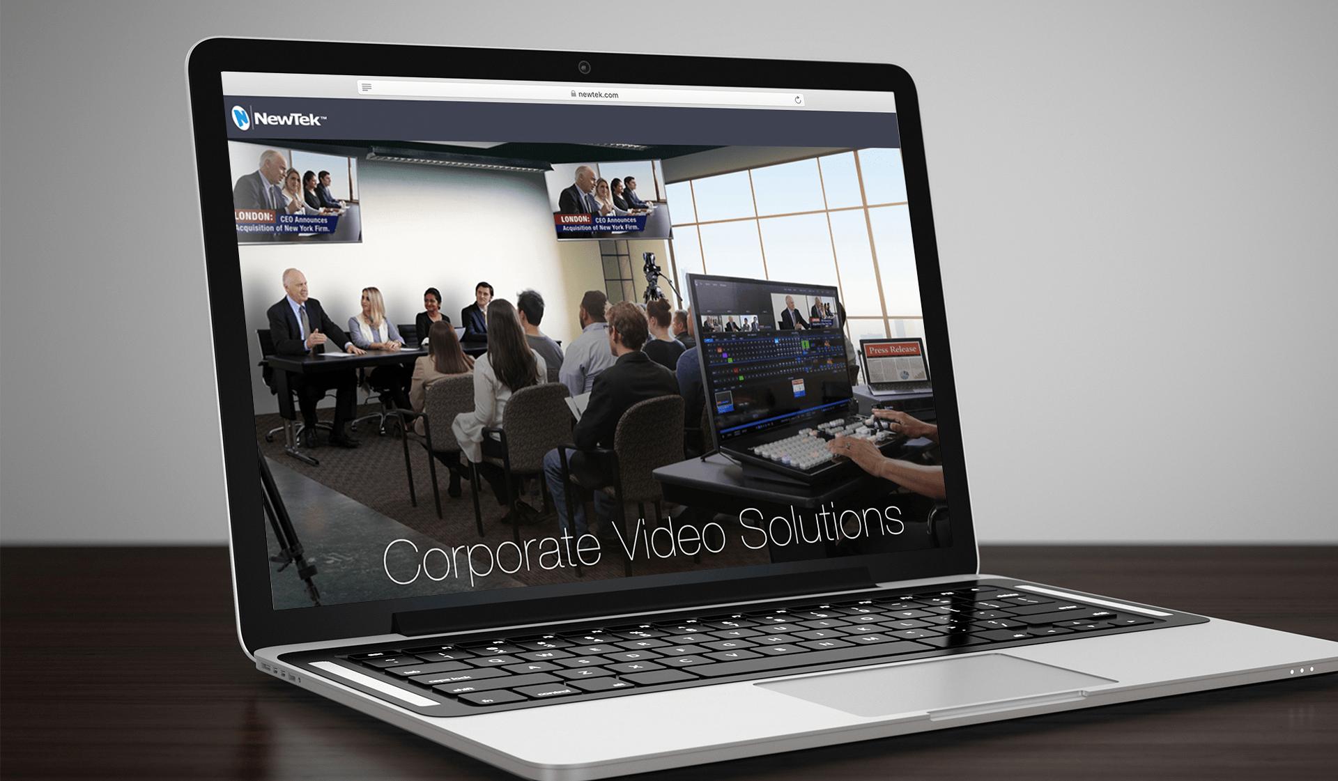 NewTek Website Laptop