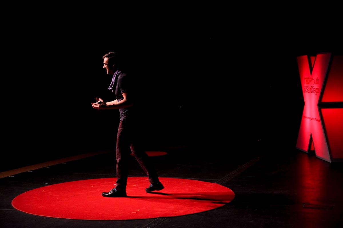 Photo of Sam Killermann at TEDxYouth San Diego