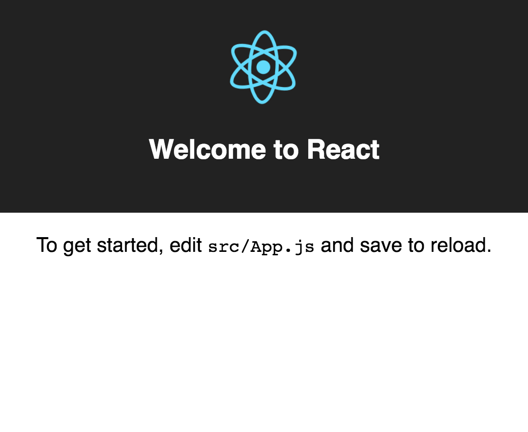 create-react-app bootstrapped app