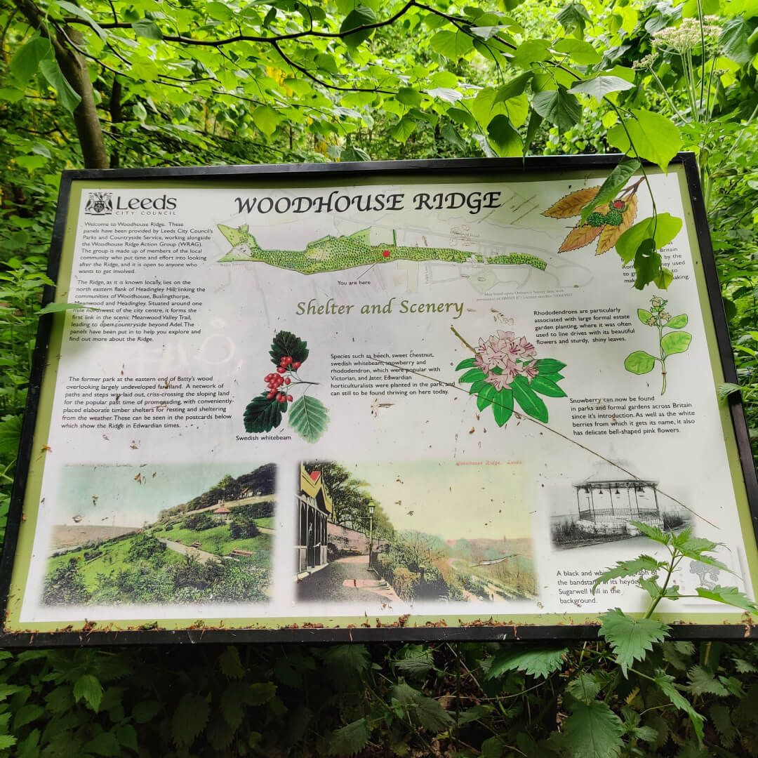 Woodhouse Ridge sign