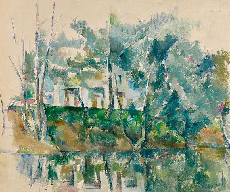 Cezanne's Arbres et Maison au bord to l'eau was sold by Sotheby's New York for $11.137 million in November 2018