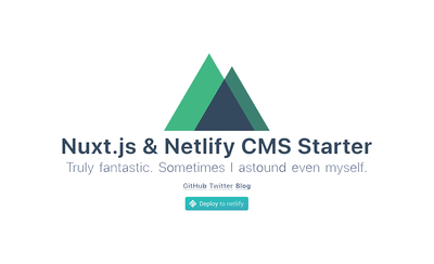 Screenshot of a page created with Nuxt & Netlify CMS Boilerplate