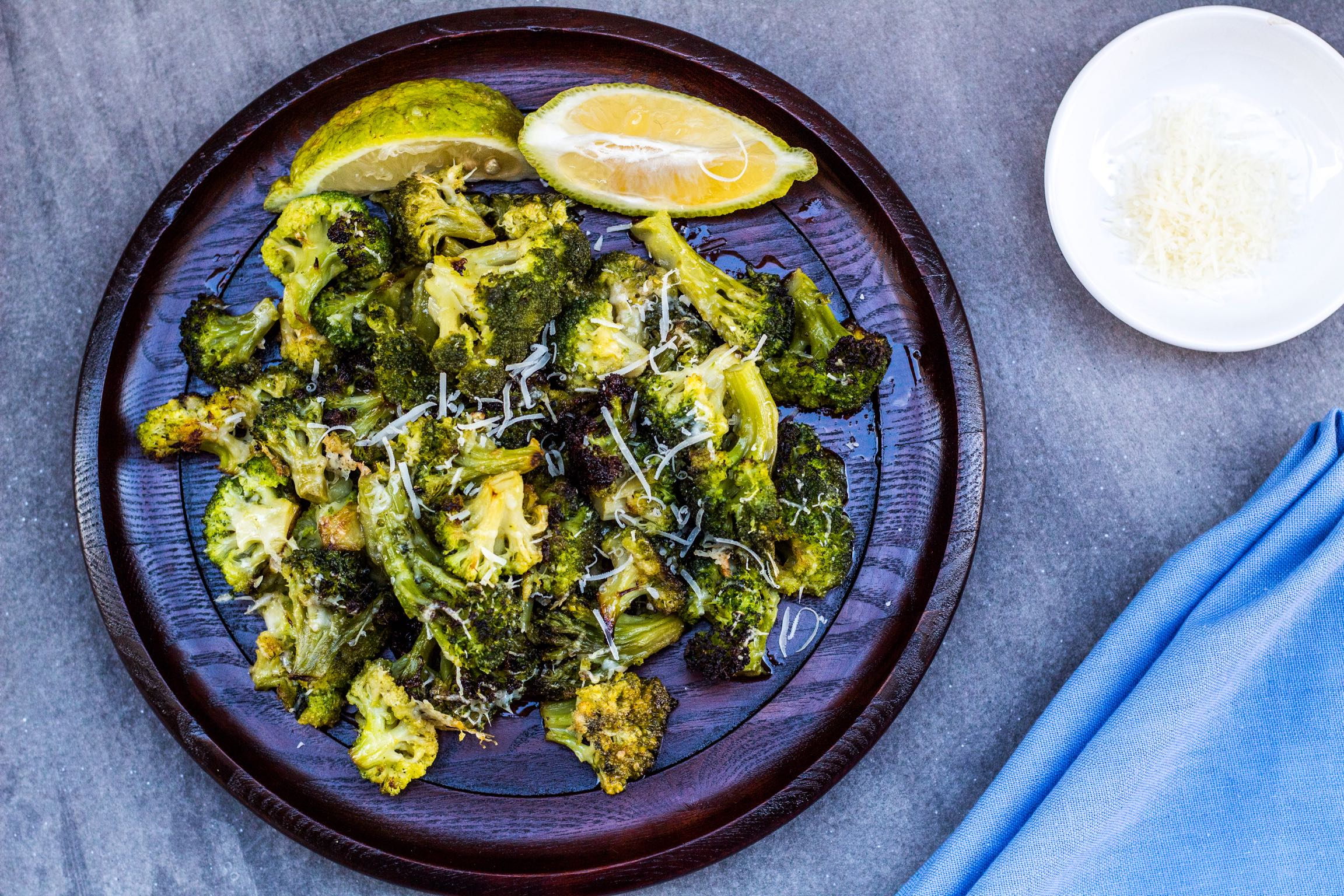Roasted Lemony Parmesan Broccoli