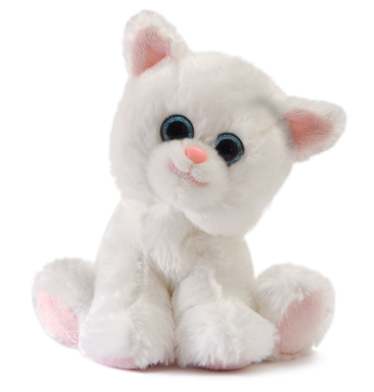 """The Petting Zoo: 7"""" Miniz White Cat"""