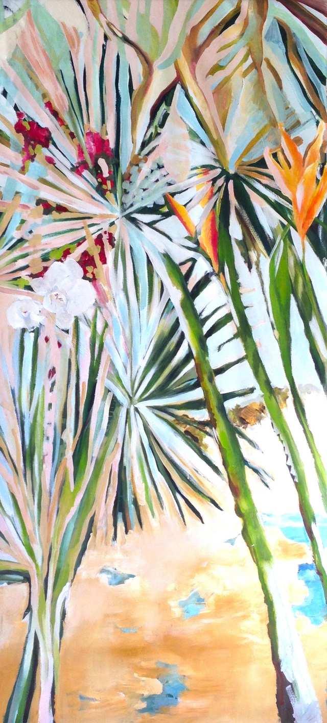 Hutan Grajagan, acrylic on canvas