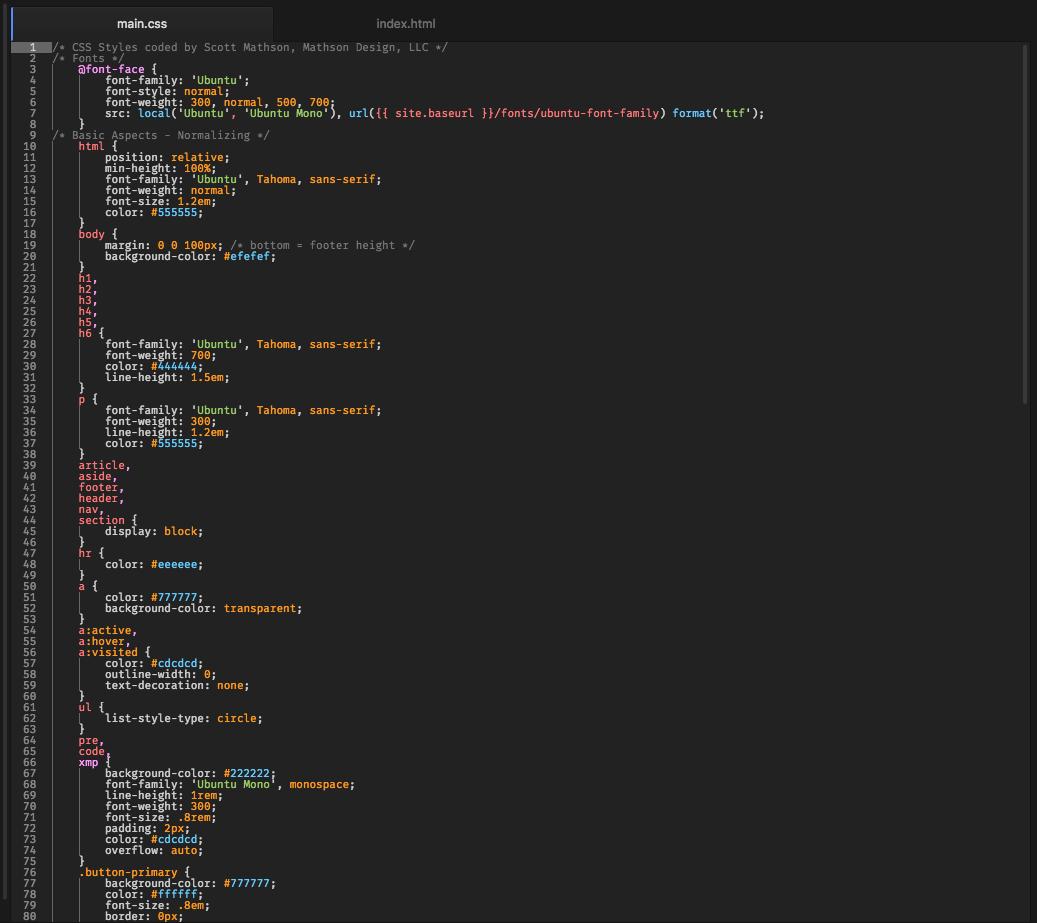Crispy Realization Atom Syntax Theme screenshot