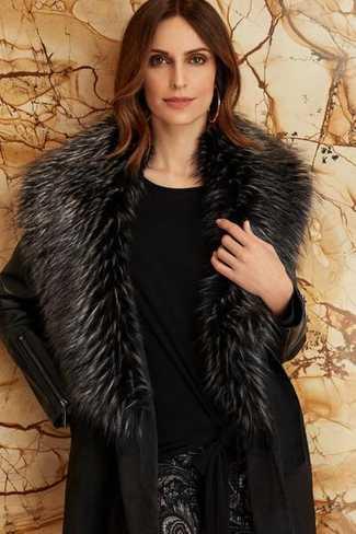 Joseph Ribkoff Fur Collared Coat