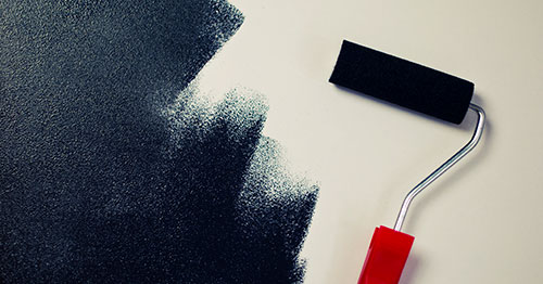 Image of a wall being painted