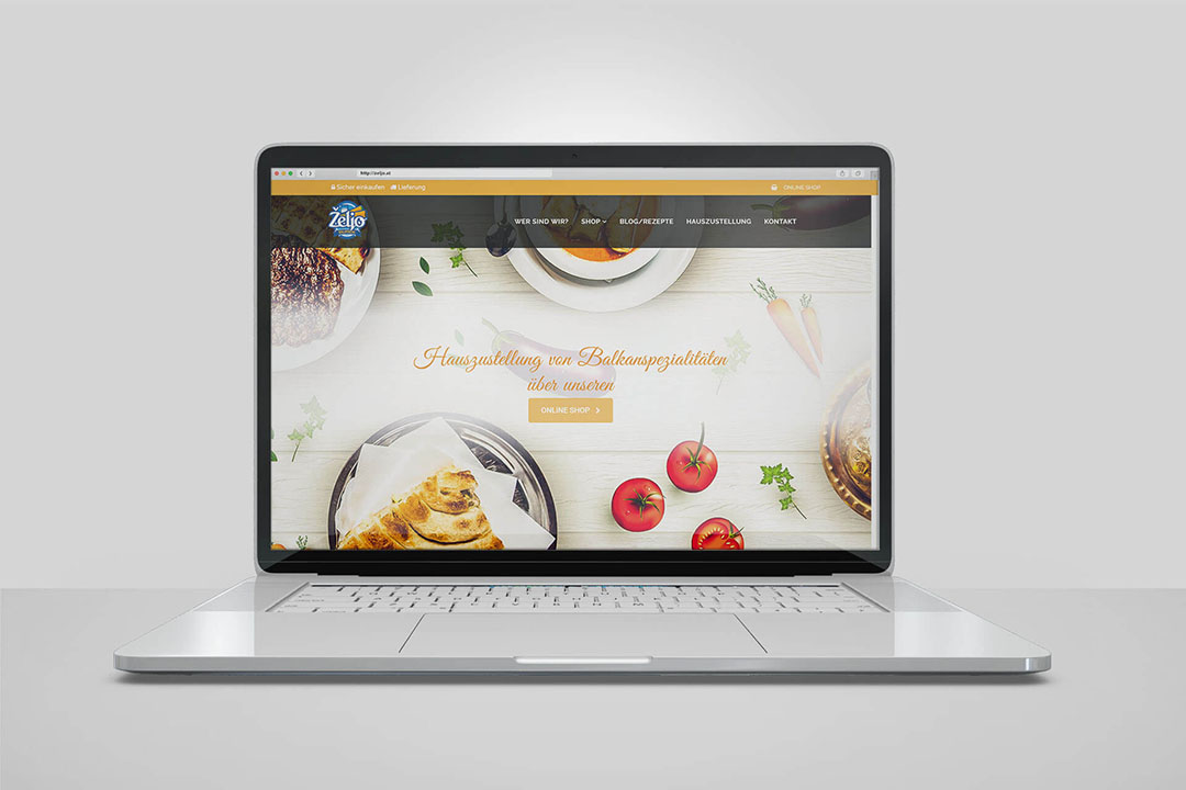 Project Željo Burek Grill, Website Design, E-Commerce