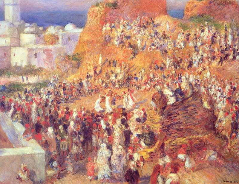 'The Mosque Arab Holiday (The Casbah)' by Renoir (1881)