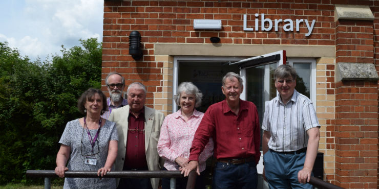 Debenham Library in its new location