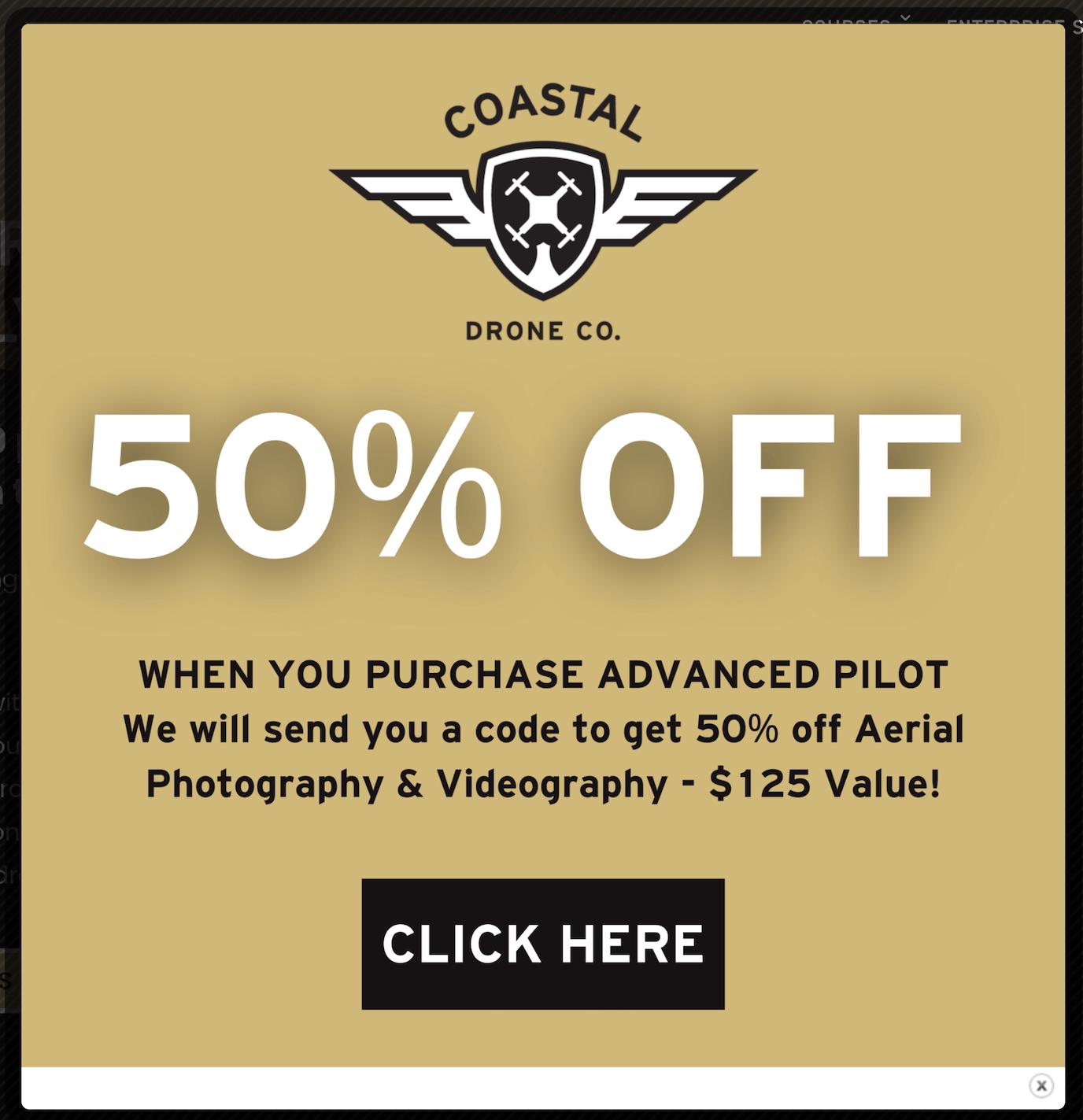 Coastal Drone discount pricing