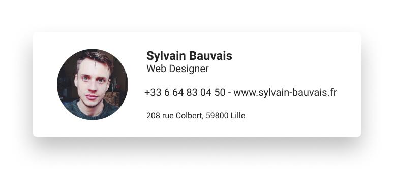 Signature mail de Sylvain Bauvais