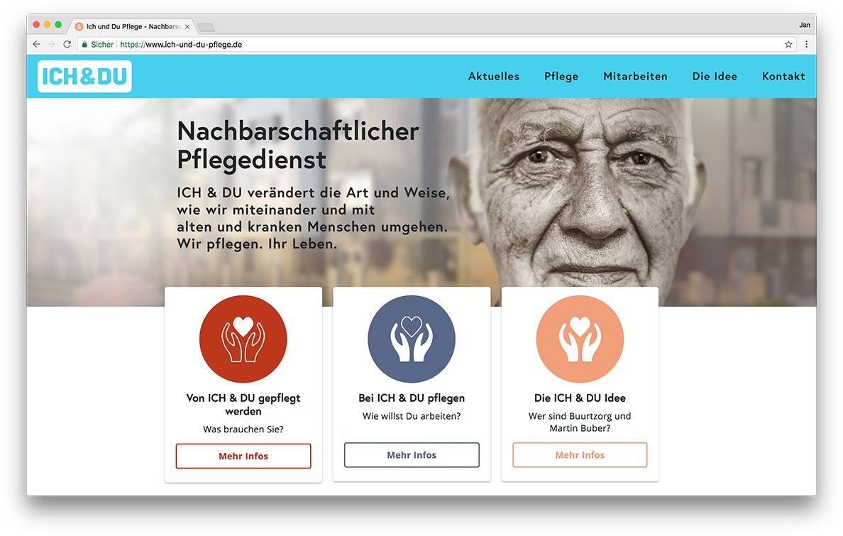 KreativBomber Onlineagentur Freiburg - ICH & DU Pflege Freiburg Start