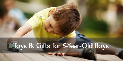 Witness the smile on your five year old boy's face when he gets these gifts!