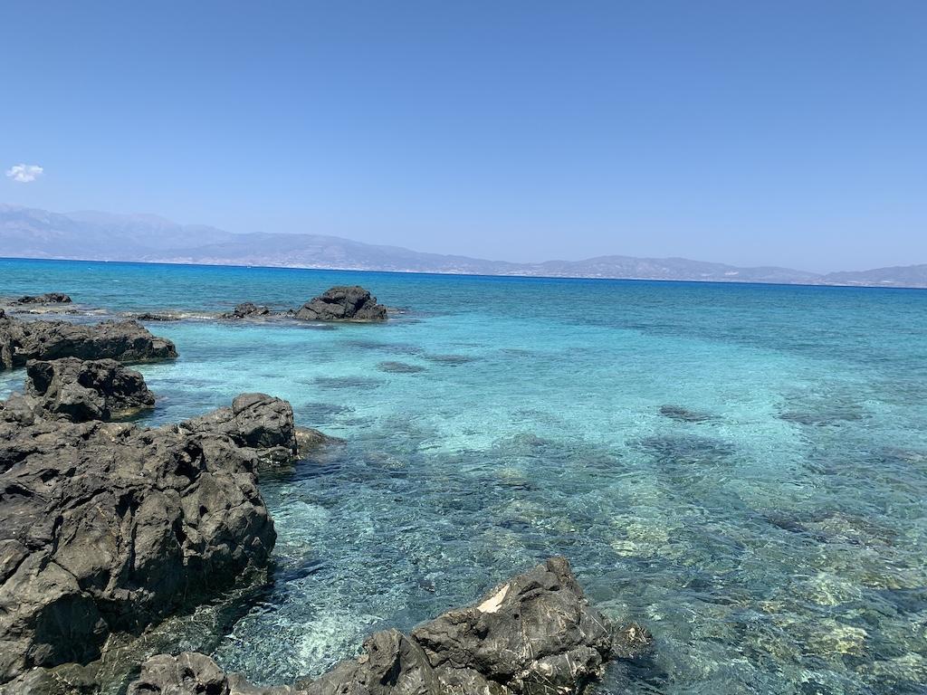 Sea at Nissos Chrissis, Crete, Greece