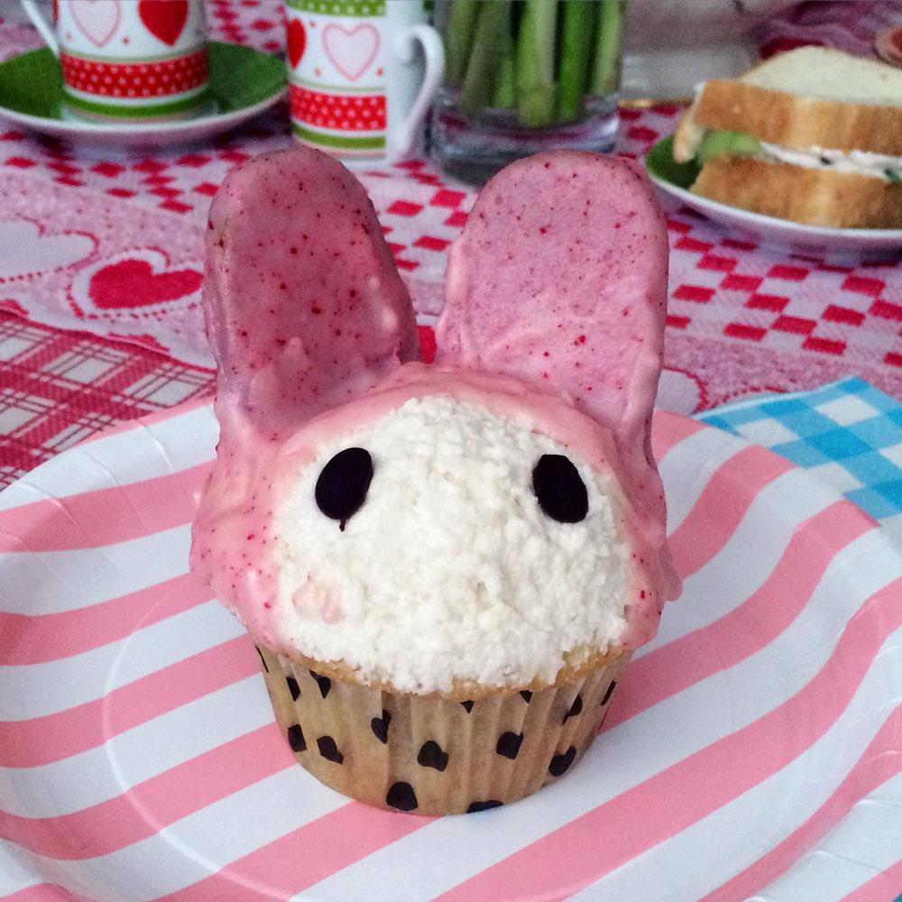 Vegan My Melody cupcake