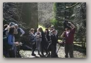 School children creating an MP4 file for one of the North Pennines leaflet walks  » Click to zoom ->