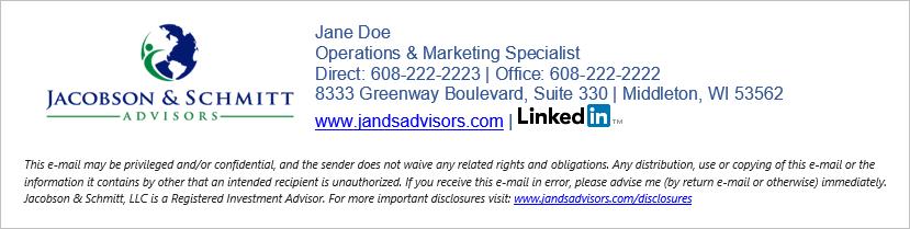 Jacobson & Schmitt Email Signature Design
