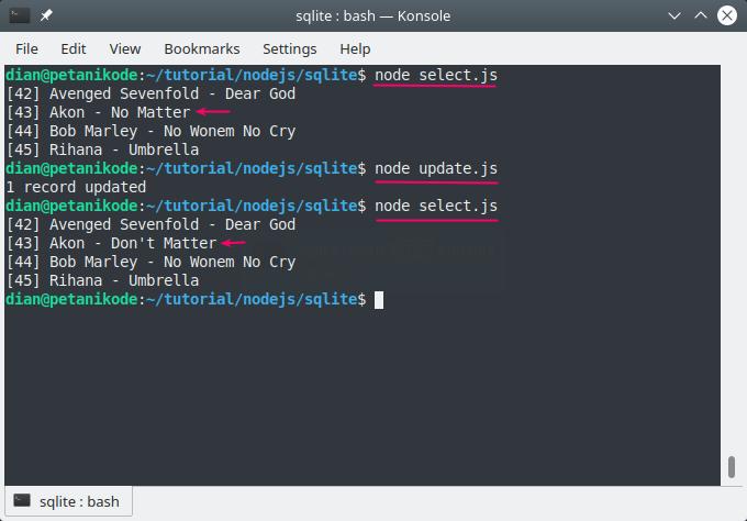 Update SQLite data