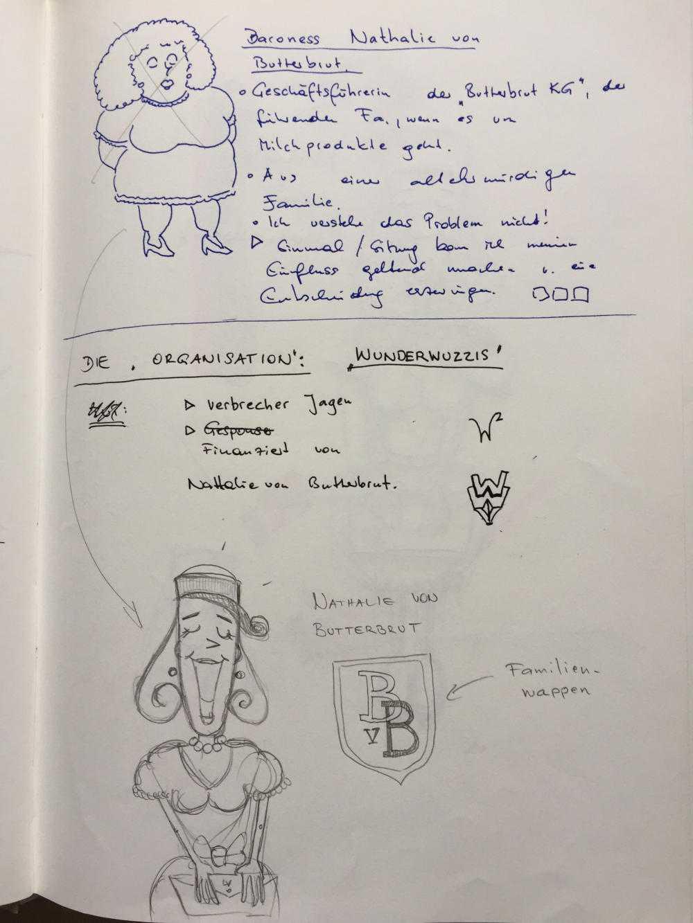 Foto aus dem Notizbuch zum Spiel