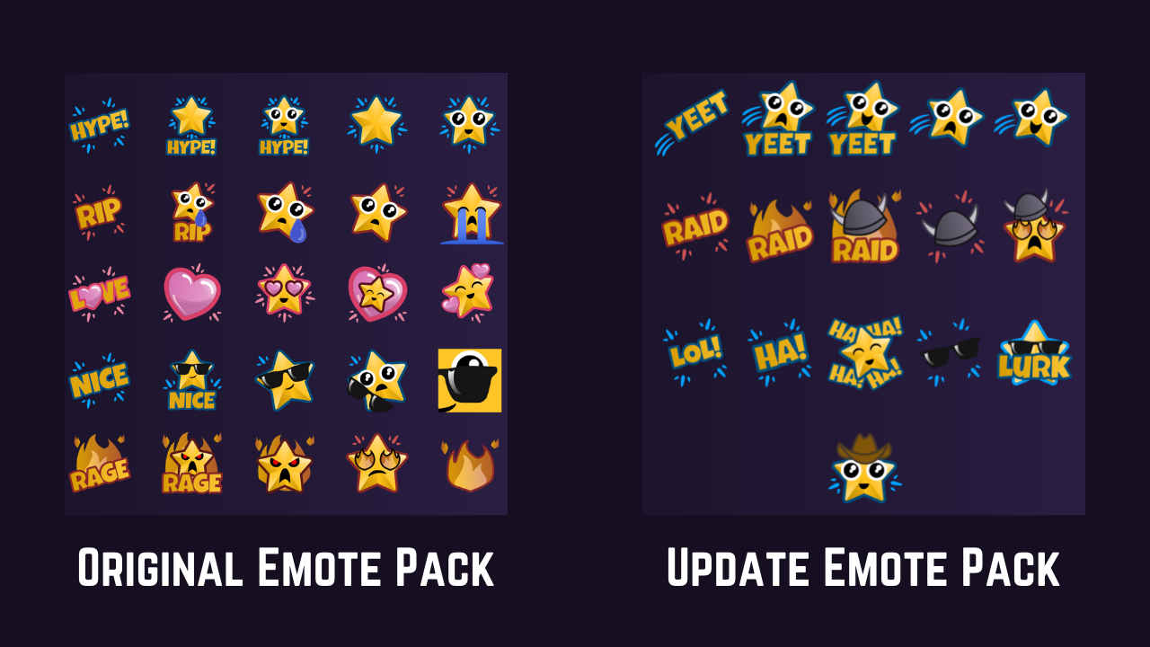 Preview of emotes.
