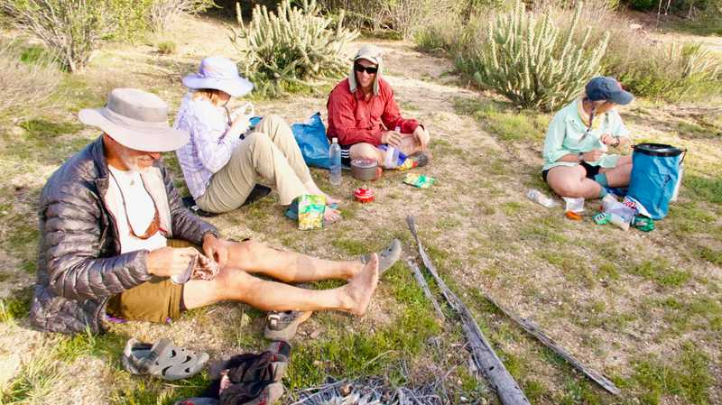 Dinner time on the PCT
