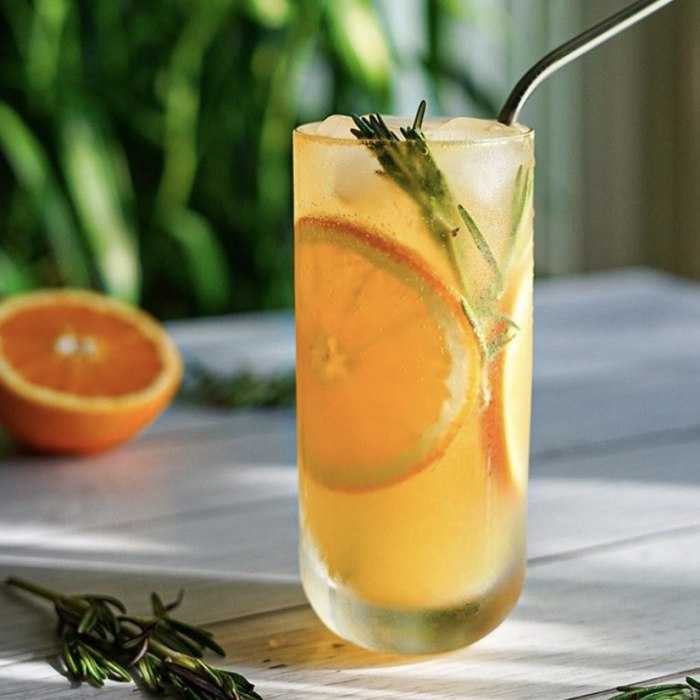 Orange Rosemary Collins Cocktail