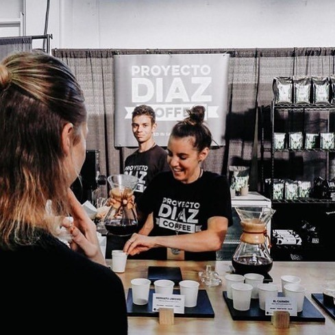Coffee being served at Projecto Diaz